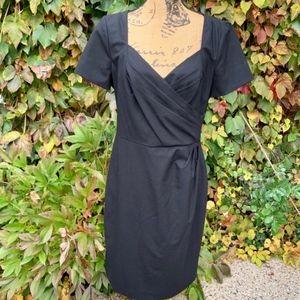 BANANA REPUBLIC Draped Black Dress, 10